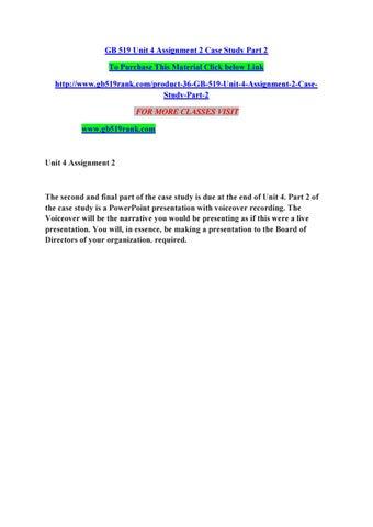 gb519 case study