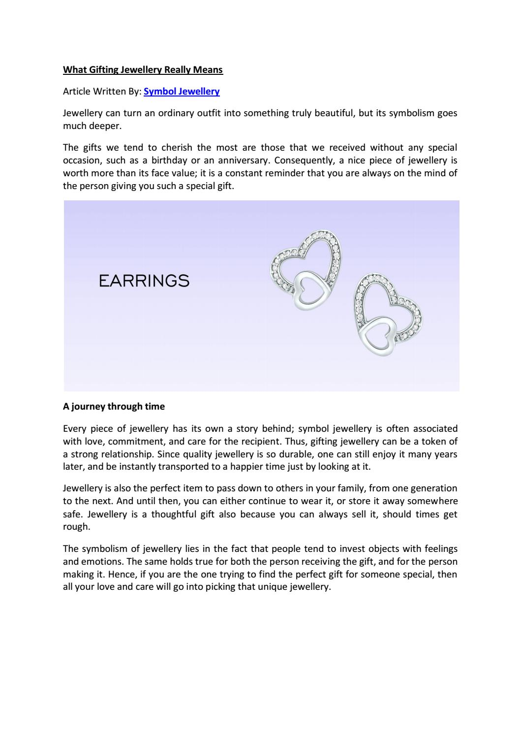 What Gifting Jewellery Really Means By Alexis Byron Issuu