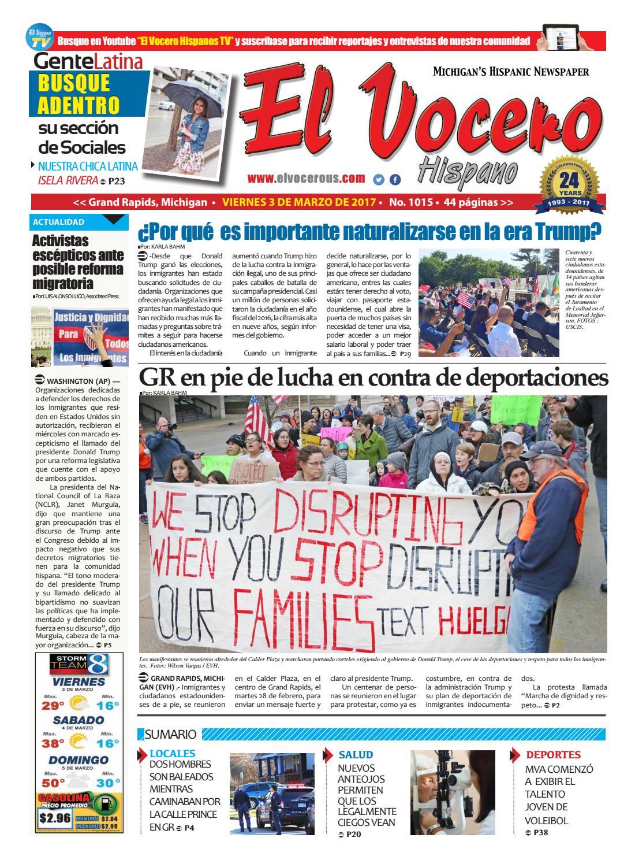El Vocero Hispano 3 de Marzo de 2017 by El Vocero Hispano - issuu