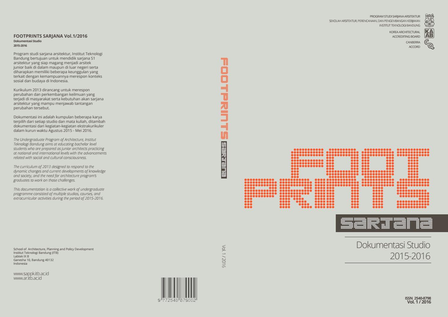 Footprint Vol 1 2016 By Unit Publikasi Program Studi
