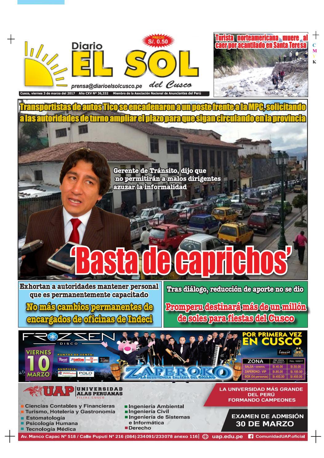 Diario El Sol del Cusco - 03 de marzo del 2017 Edición Digital by ...