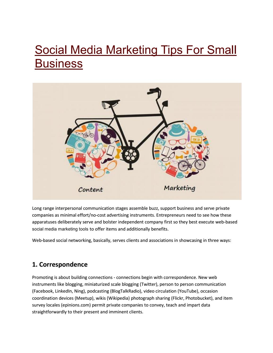 Social Media Marketing Tips For Small Business By Middleton Issuu Network Diagram Corporate Office Flickr Photo Sharing