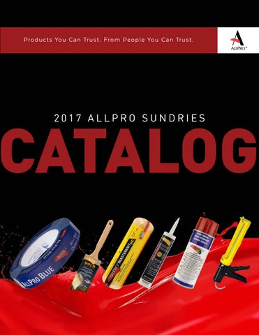 ALLPRO 2017 Sundries Catalog by ALLPRO Corporation - issuu