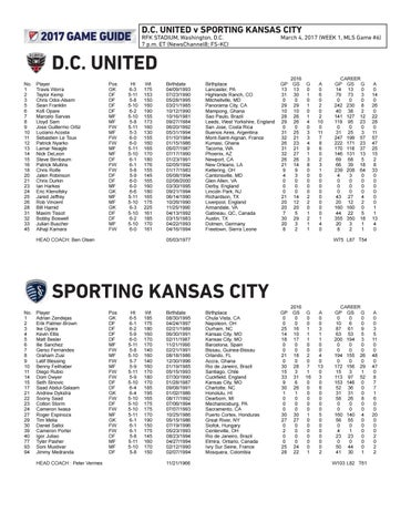 Game Guide: Sporting KC at D C  United by Sporting Kansas