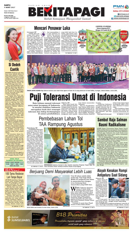 Sabtu 4 Maret 2017 By Beritapagi Issuu Kacang Sambal Dua Putri Bjb