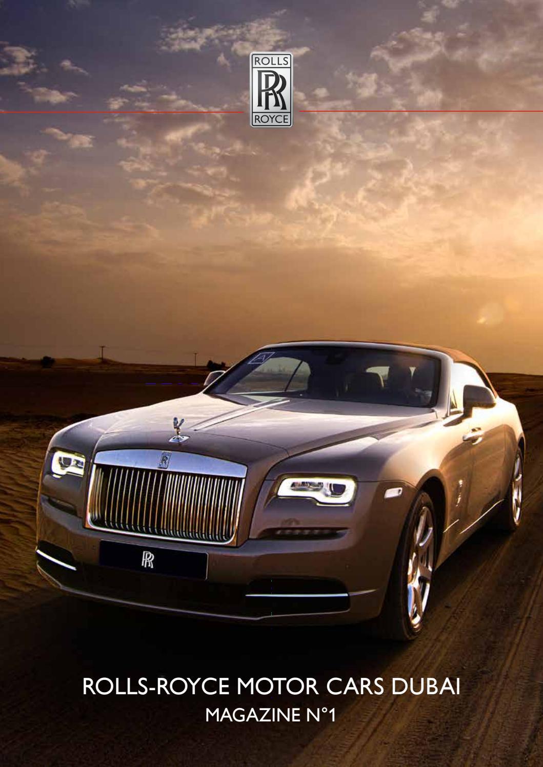 Rolls royce motor cars dubai customer magazine by steve for Rolls royce motor cars