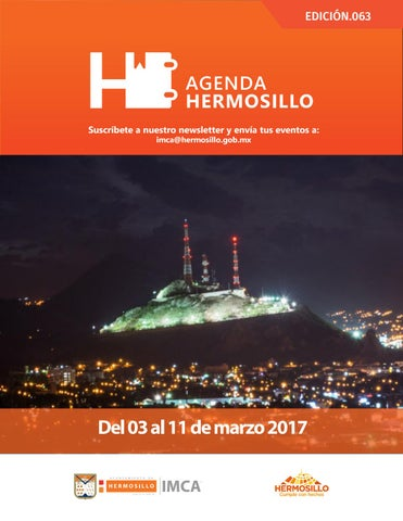 "Cover of ""Agenda Hermosillo 03 mar 2017"""