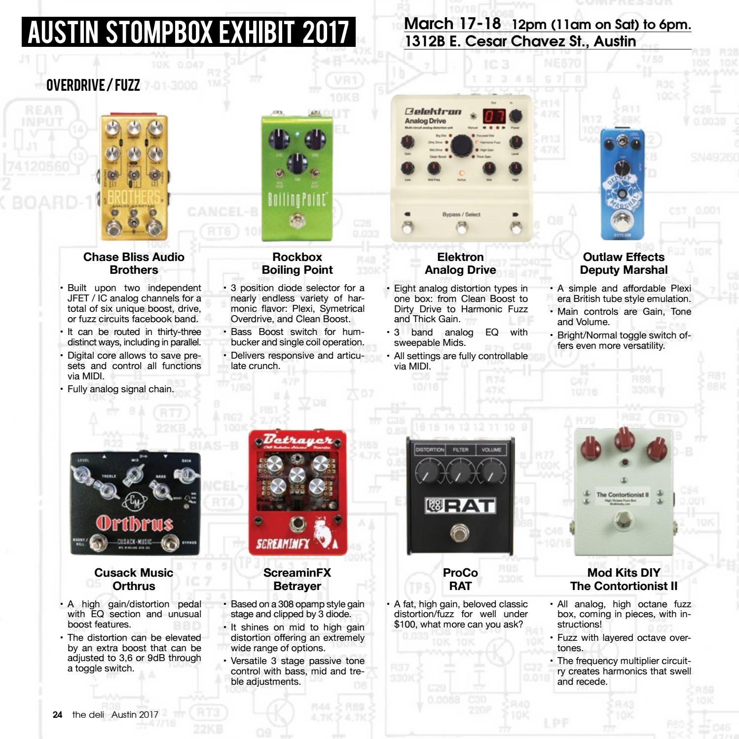 The Delis Austin 2017 Issue Stompbox And Synth By Tone Control Circuit Passive Deli Magazine Issuu
