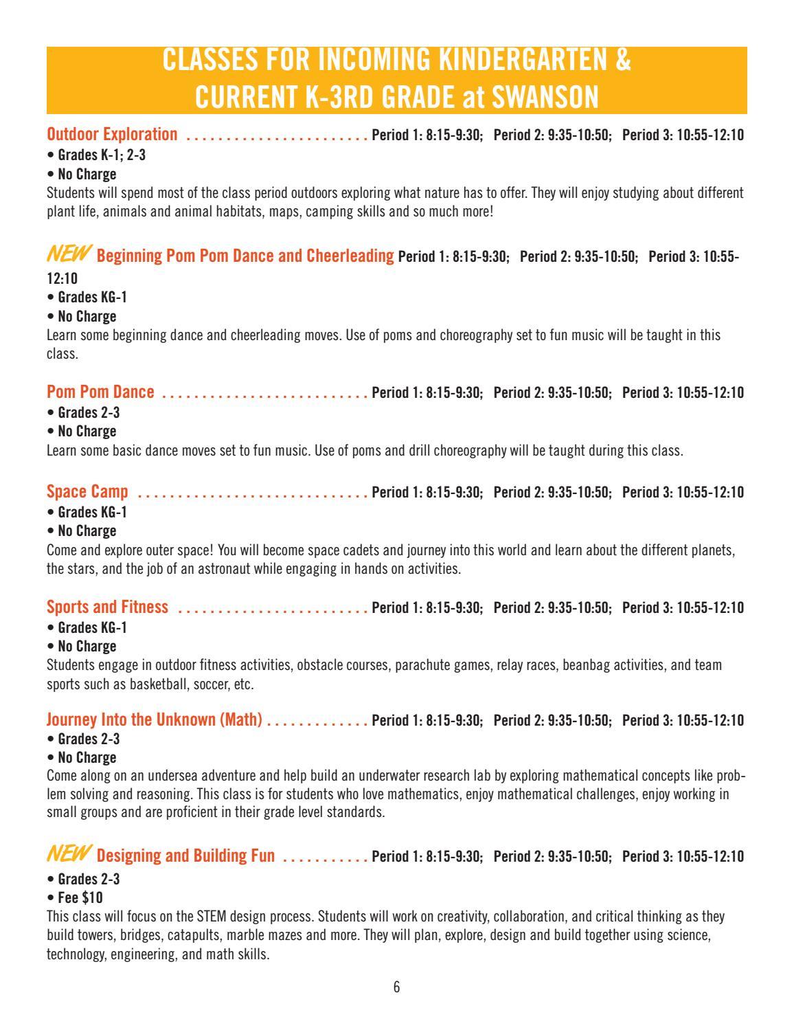 Elmbrook Schools 2017 Summer School Brochure Elementary Middle Basic Skills In Relay Race By Issuu