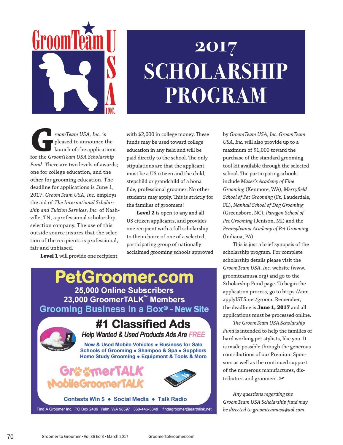 Groomer to Groomer March 2017 by Barkleigh Productions - issuu