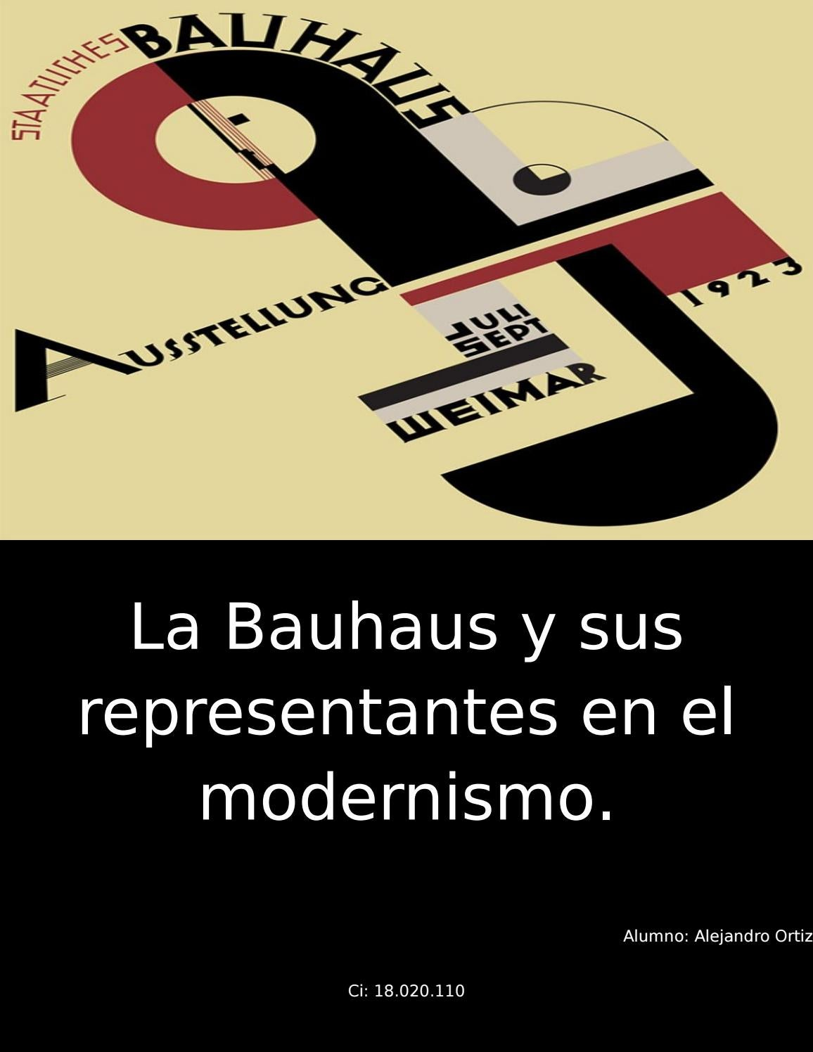 La Bauhaus Y Sus Representantes En El Modernismo By Vanessa Ruiz  # Muebles Bauhaus Caracteristicas
