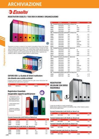 Dorso 8 Blu Commerciale Confezione 6 23 x 30 cm Esselte 390783050 Registratori Oxford