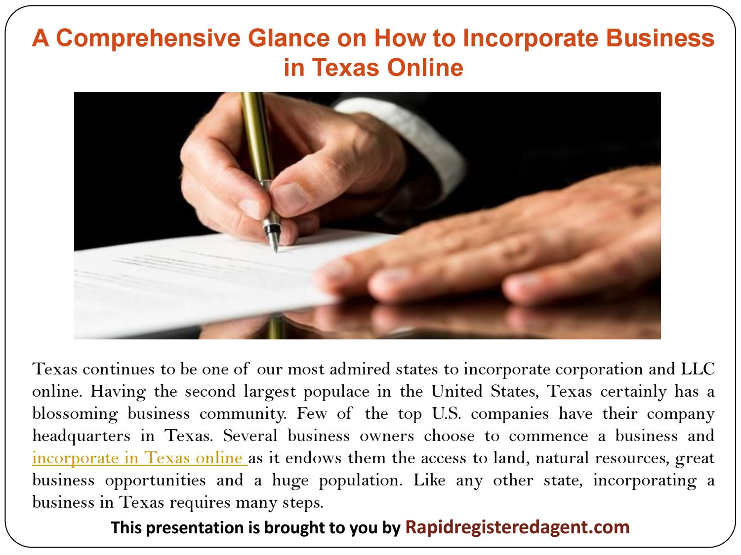 The Facts About How To Incorporate In Texas Revealed