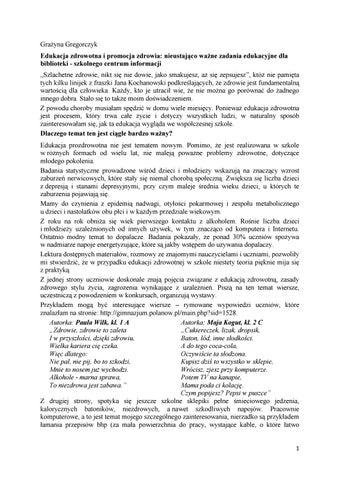 Edukacja Zdrowotna Woynarowska Pdf