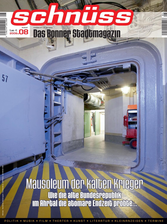 Schnüss 2009/08 by Schnüss - Das Bonner Stadtmagazin - issuu