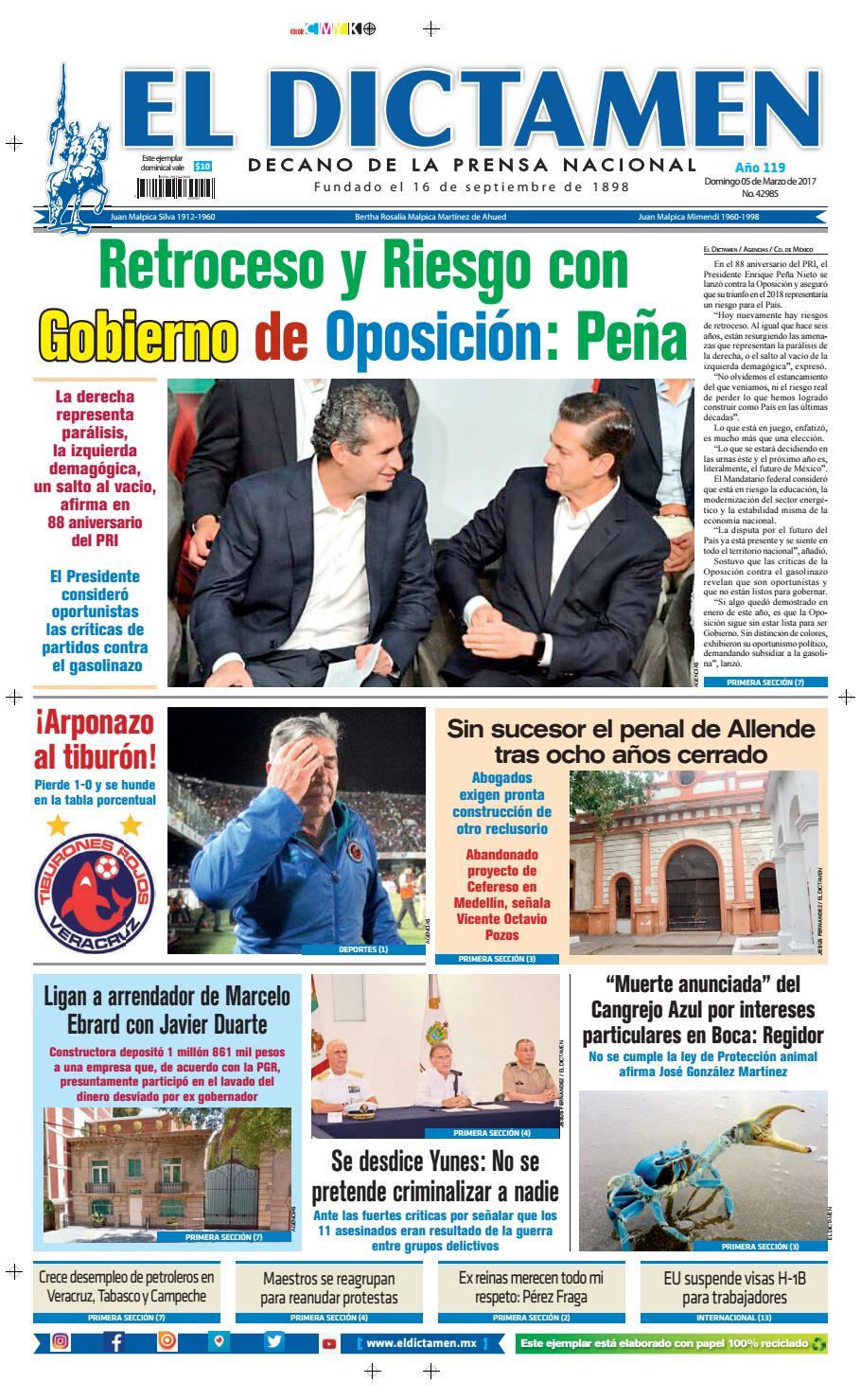 El Dictamen 5 de Marzo 2017 by El Dictamen - issuu