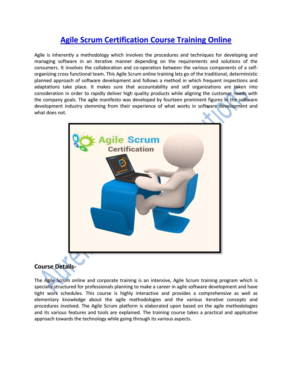 Agile Scrum Certification Course Training Online By Aurelius
