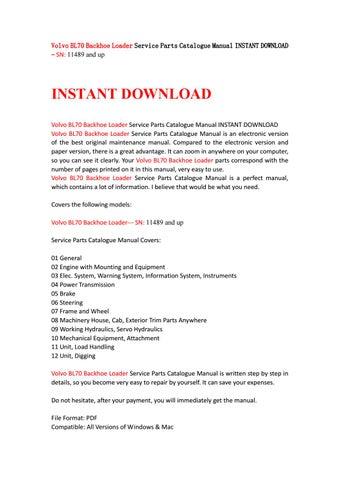 volvo bl70 service manual
