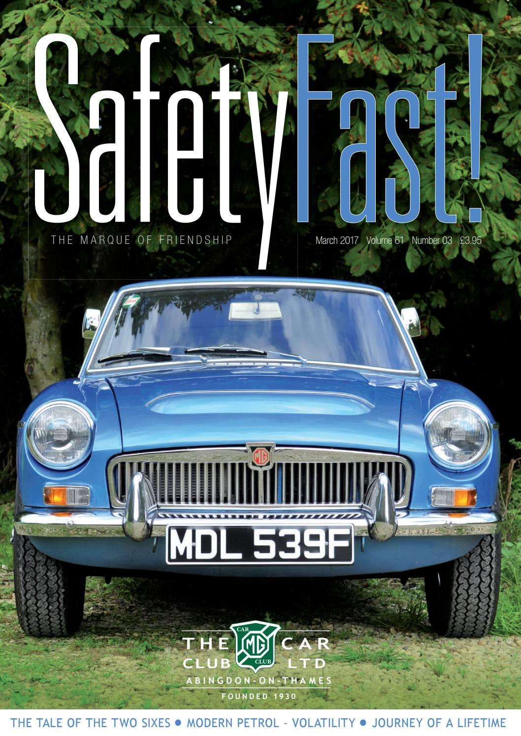 Safety Fast! March 2017 by MG Car Club - issuu