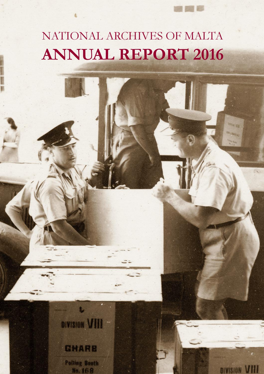 Nam Official Annual Report 2016 By National Archives Malta Issuu Brian Ellul Blog Airx New Controller
