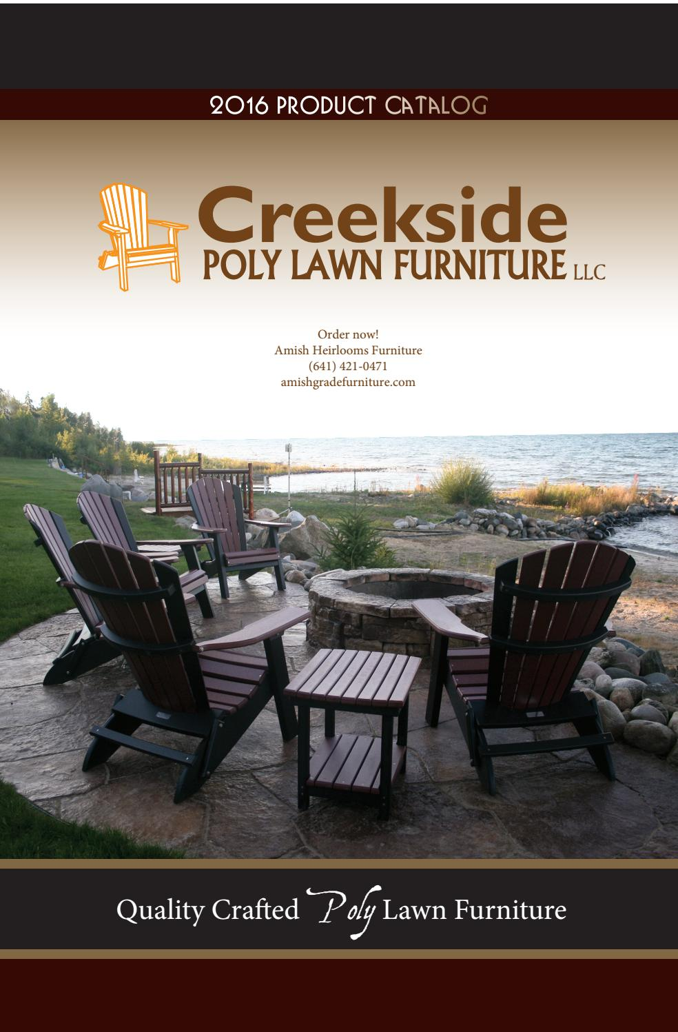 Creekside Outdoor Furniture Poly Lawn Funiture Catalog