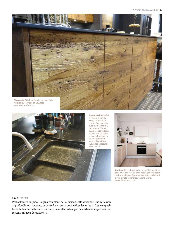 Pierre Bleue Plan De Travail Cuisine propriétaire magazine 03 2016/17 fribourg-vaud