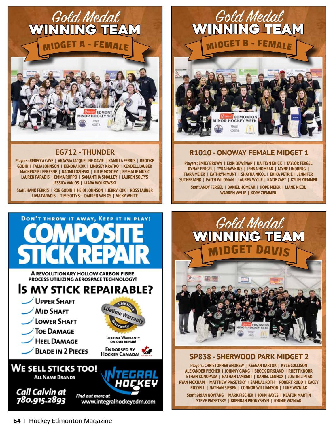 Hockey Edmonton Magazine Spring Edition 2017 By Suggitt Publishers