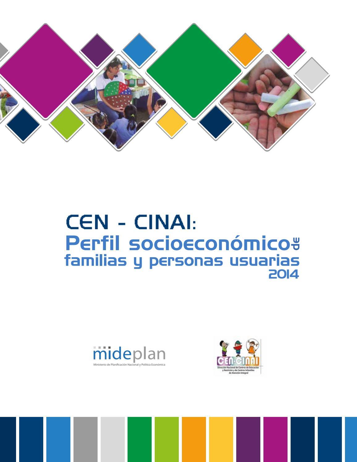 CEN-CINAI: Perfil socioeconómico de familias y personas usuarias ...