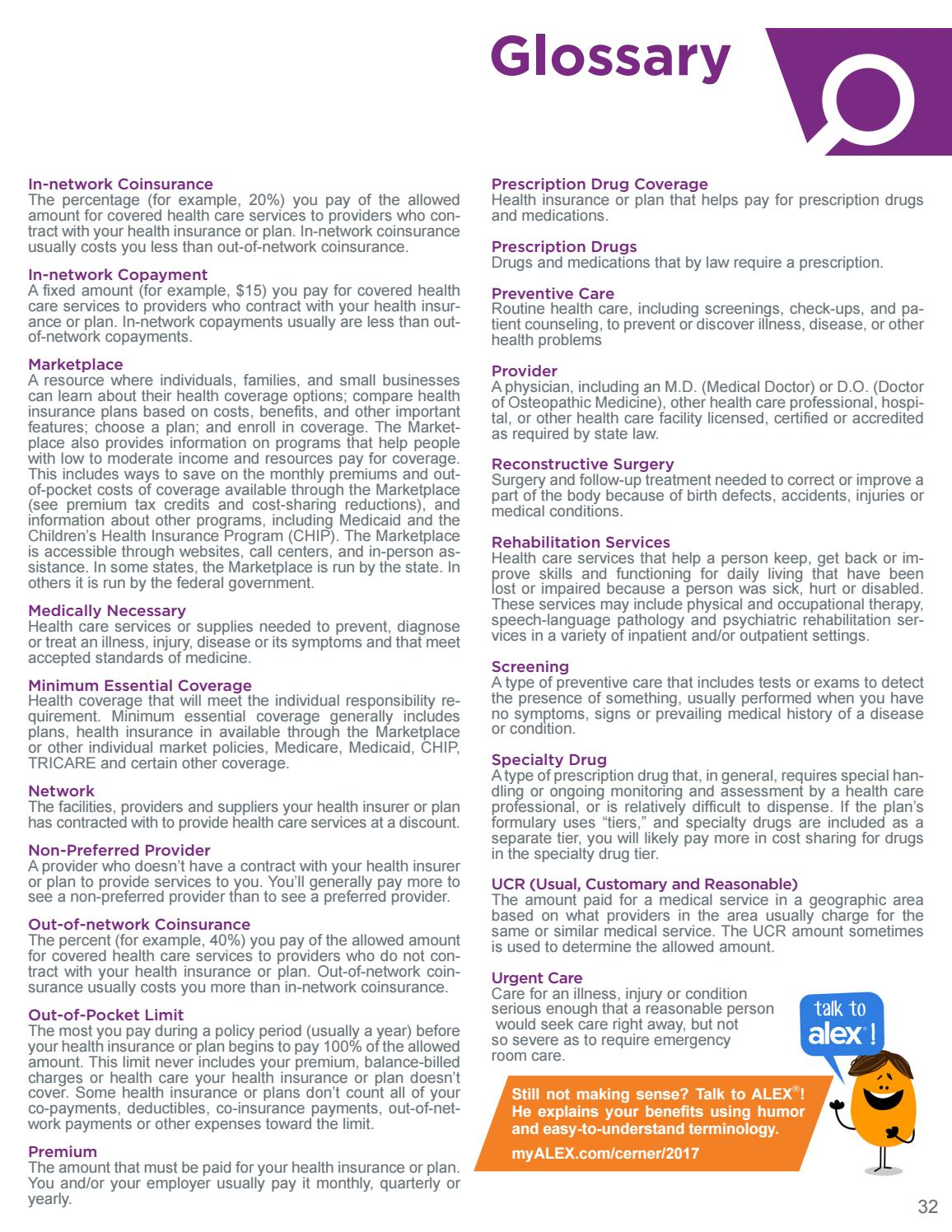 2017 United States Cerner Benefits Brochure by