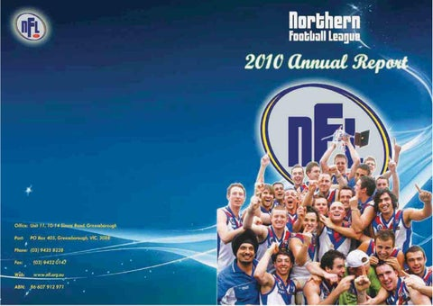 2010 NFL Annual Report by Northern Football Netball League