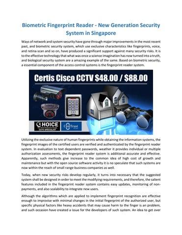 Biometric fingerprint reader by choicecycle253 - issuu