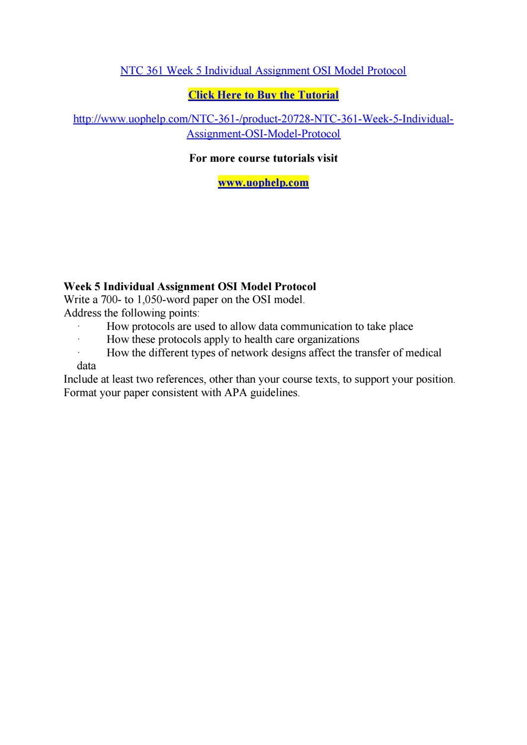 Ntc 361 week 5 individual assignment osi model protocol by ntc 361 week 5 individual assignment osi model protocol by olymopicgamesriogust2016 issuu baditri Gallery