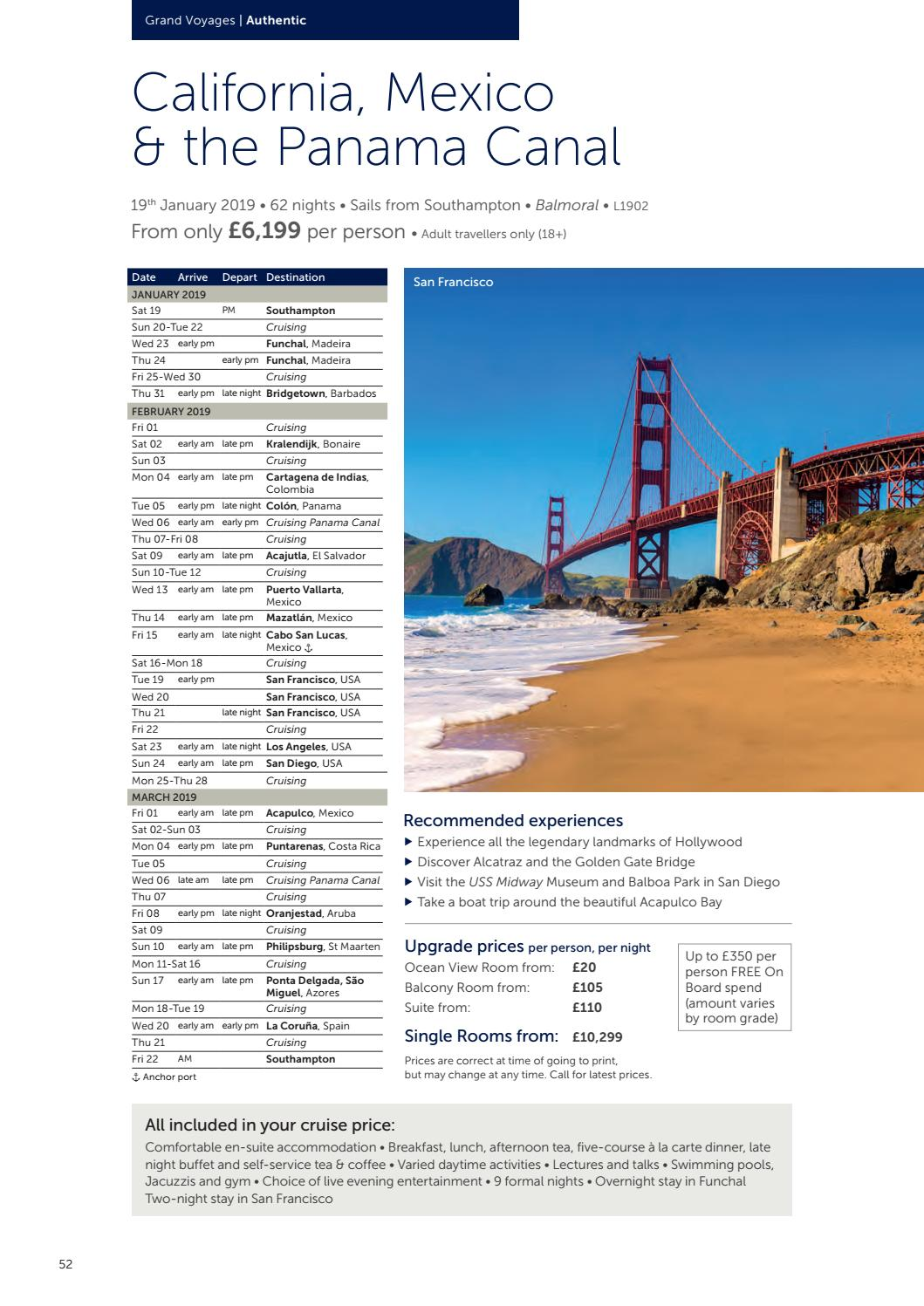 Fred Olsen Cruise Lines Worldwide 2018 2019 Brochure By Travel