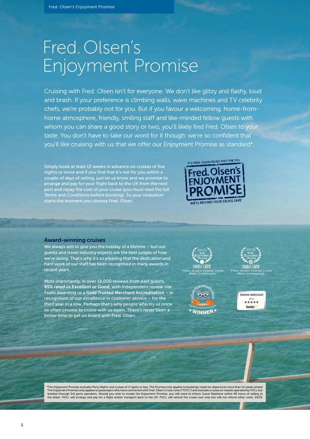 Fred  Olsen Cruise Lines Worldwide 2018/2019 brochure