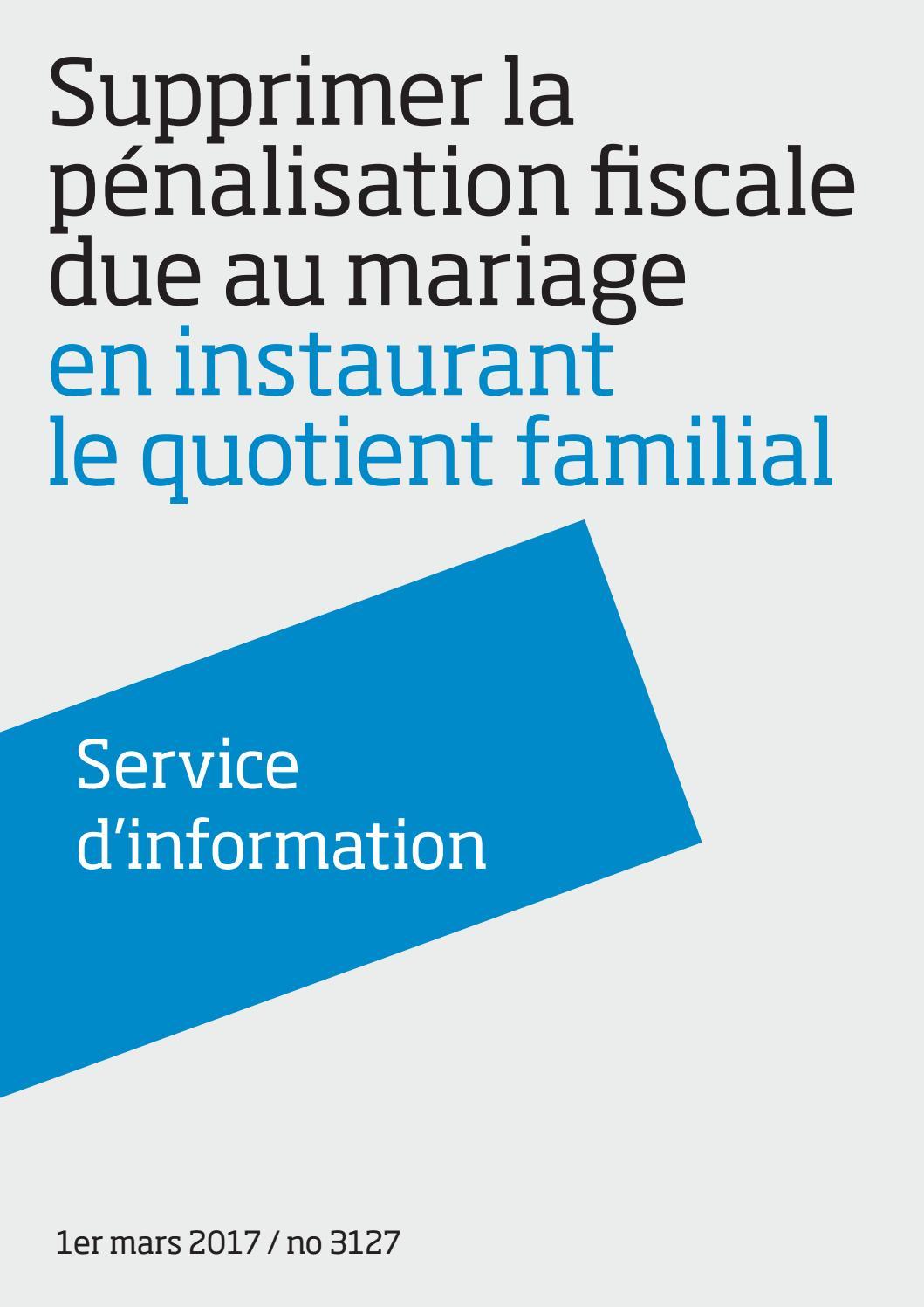 Pour Supprimer La Penalisation Fiscale Du Mariage Le