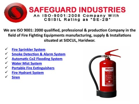 Fire sprinkler systems supplier by safeguardindus - issuu