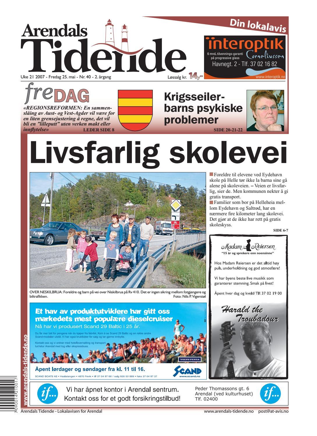 3ae5b746 Arendalstidende 20070525 000 00 00 by Tvende Media AS - issuu