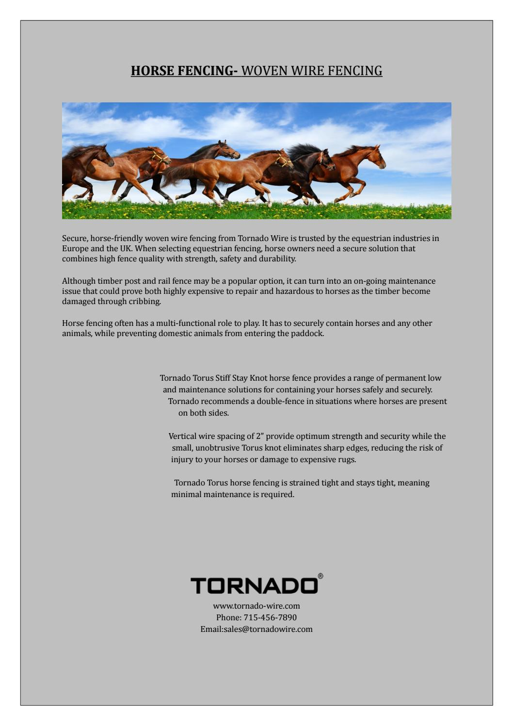 Want to buy the best horse fencing? by Tornado - issuu