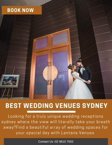 Best Wedding Venues Sydney By Lantana Venues Issuu