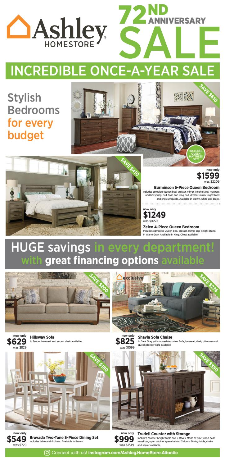 Ashley Homestore 72nd Anniversary Sale Ends 04 04 By