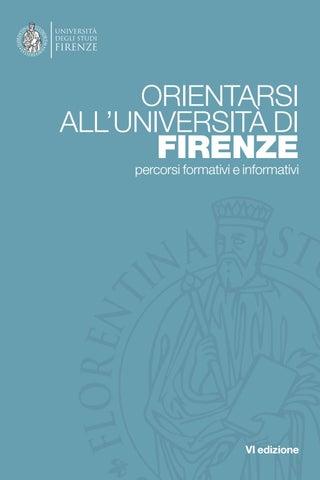 Calendario Unifi Economia.Orientarsi All Universita Di Firenze By Unifi Comunicazione