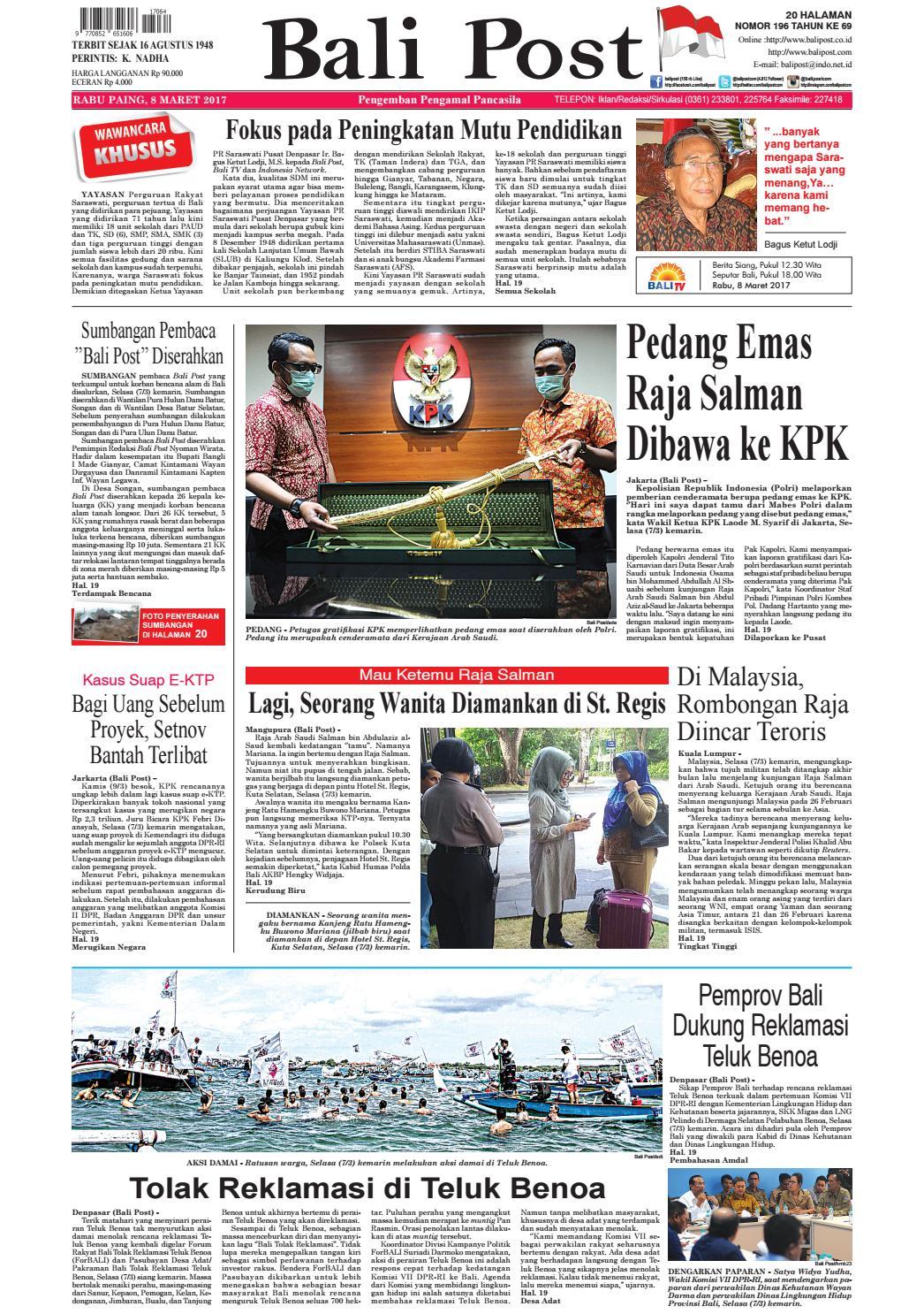 Edisi 08 Maret 2017 Balipostcom By E Paper Kmb Issuu Jamsuit Cewek Oleh Dari Bali