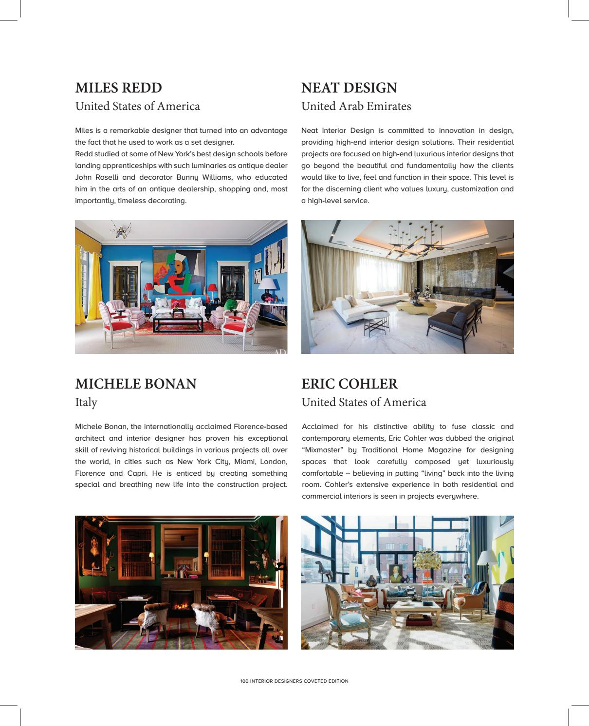 Top 100 Interior Designers By Covet Edition Issuu