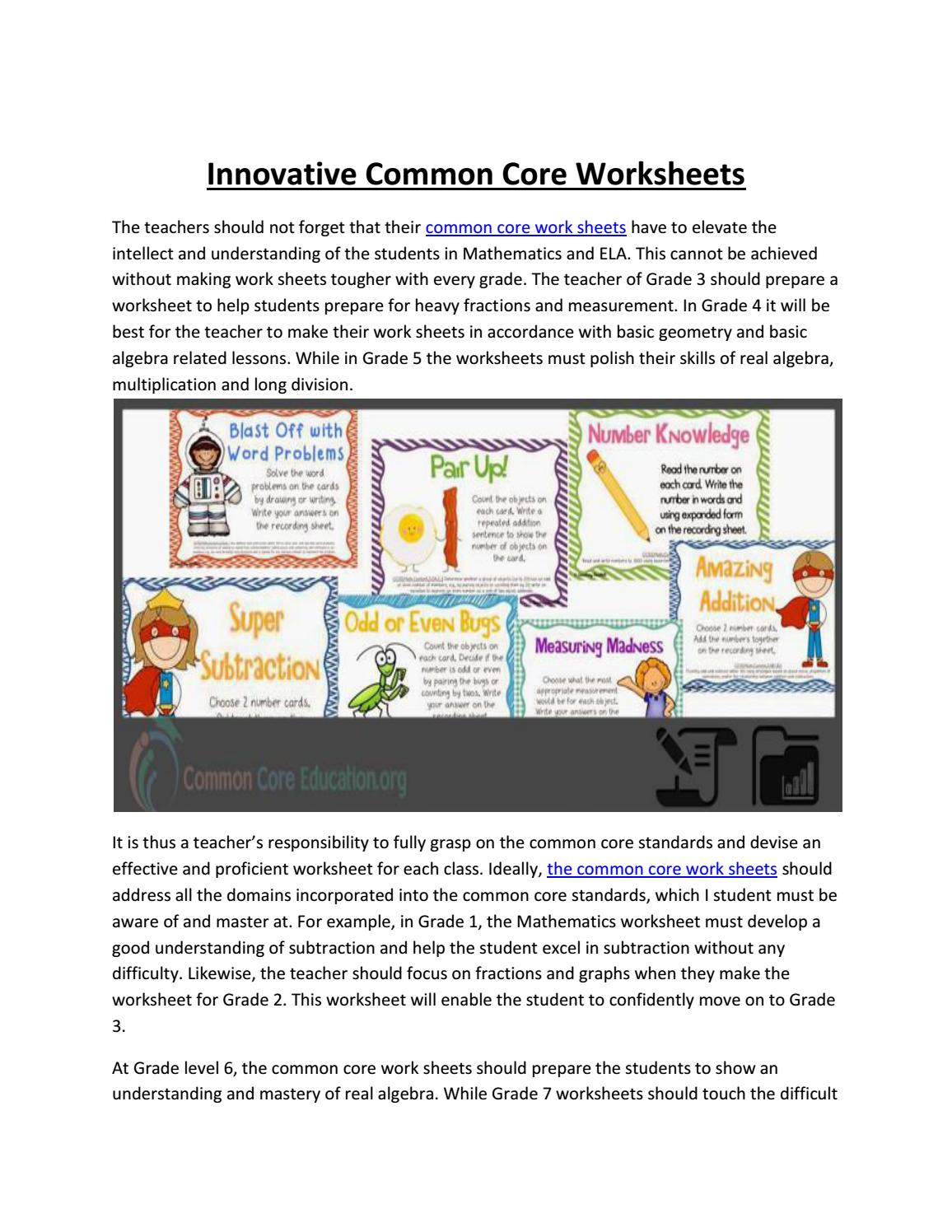- Is Common Core Worksheets Really Worked? By CommonCoreWorksheets