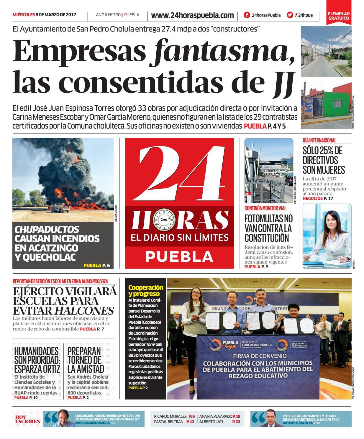 08 de marzo de 2017 | 24 Horas Puebla by 24 Horas Puebla - issuu