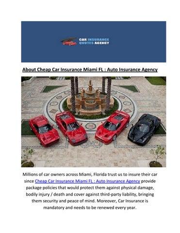 Call Us 786 372 6524 Car Insurance In Miami Fl By Cheap Car