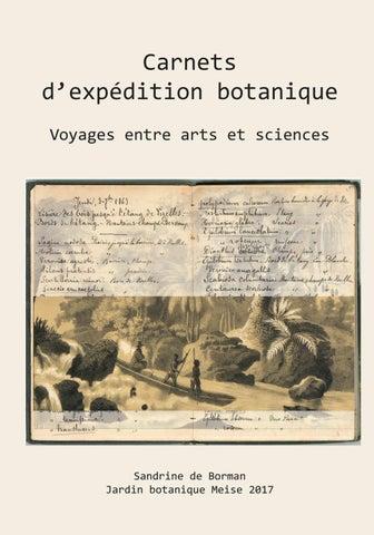 Catalogue Extraits Expo Carnets D Expedition Botanique Voyage