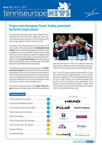 sports shoes 22edf fe258 Tennis Europe News 133 by Tennis Europe - issuu
