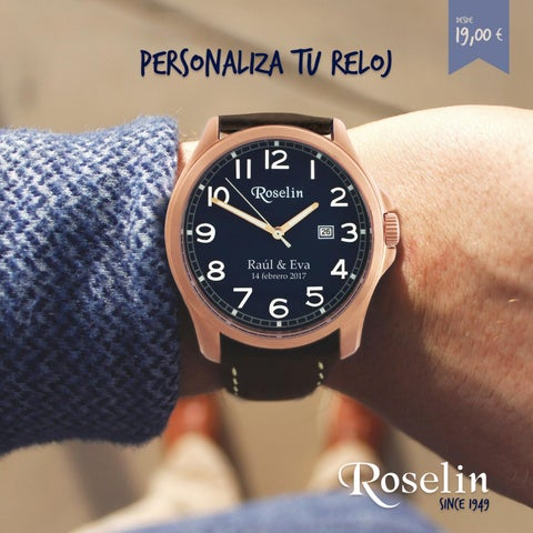 729df52423ff Personalizamos tu reloj by Roselin Joyeros - issuu