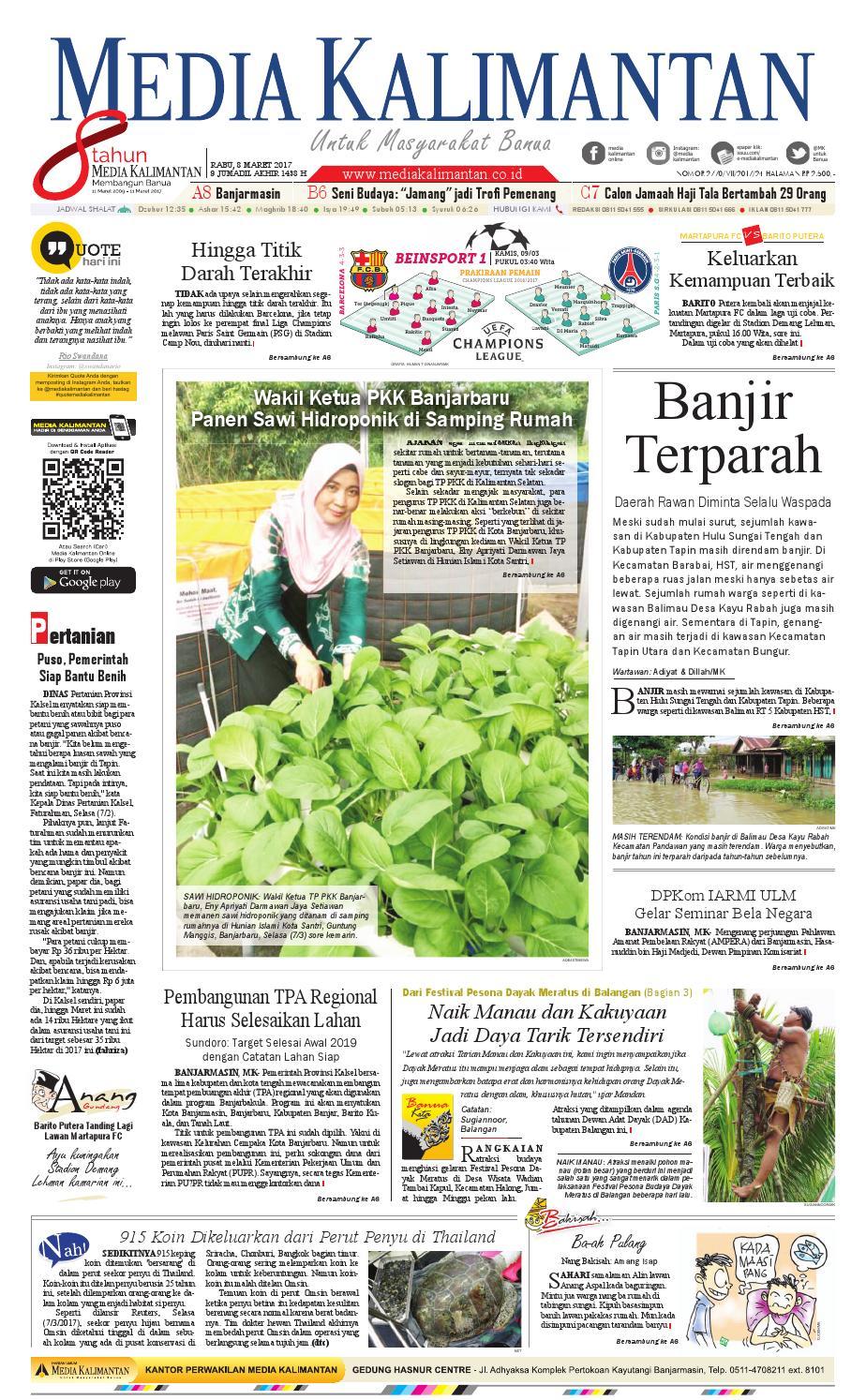 MEDIA KALIMANTAN RABU 8 MARET 2017 By Media Kalimantan Issuu